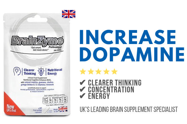 Increase dopamine with BrainZyme's powerful brain supplements