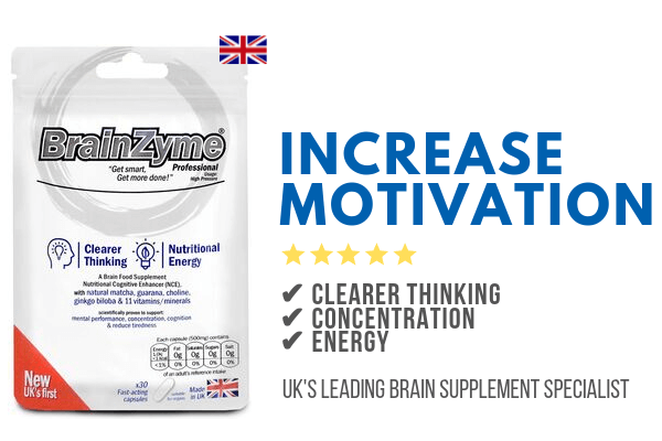 Increase motivation with BrainZyme supplements
