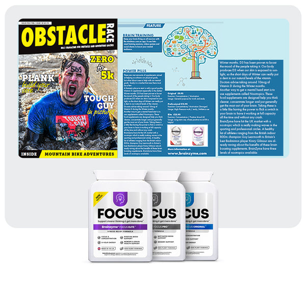 Brainzyme featured in the Obstacle Race Magazine