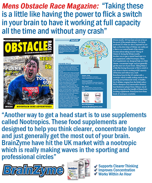 Obstacle Race Magazine Features BrainZyme