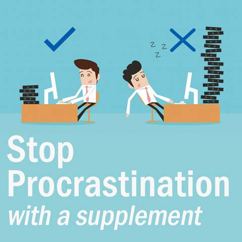 Stop Procrastination: Powerful Herbal Supplement: UK made (30caps)