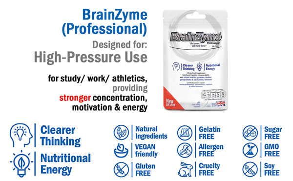 BrainZyme® Professional: Most similar to synthetic smart pills