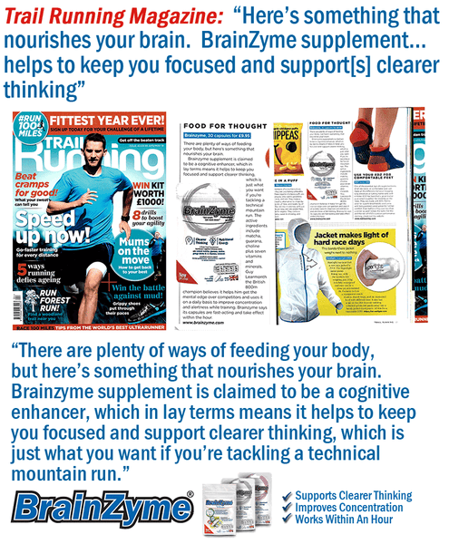 Trial Running Magazine Features BrainZyme