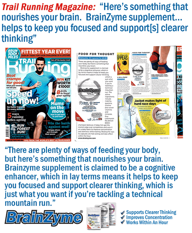 Trail Running Magazine Reviews BrainZyme®