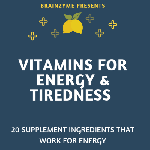 vitamins for energy and tiredness