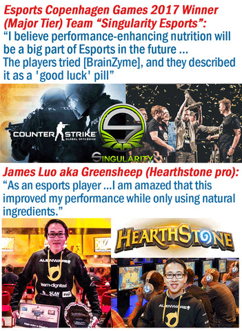 Team Singularity and Greensheep reviews BrainZyme® - E-Sport Review