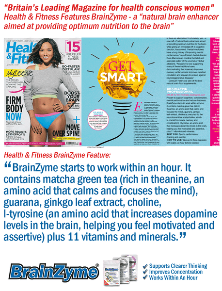Health & Fitness Magazine Features BrainZyme