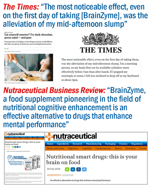 """The Times"" newspaper reviews BrainZyme"
