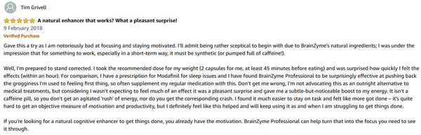 BrainZyme Professional Amazon Review