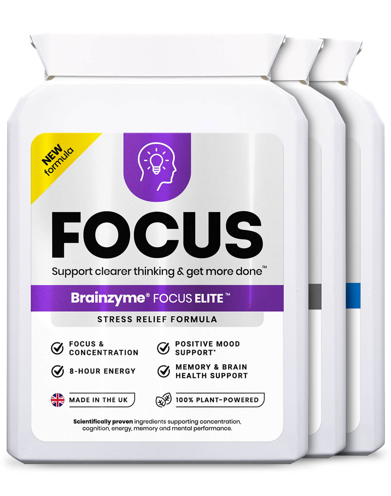 Brainzyme® Focus Combo 3-in-1 Set: Try Packs of All Three Products