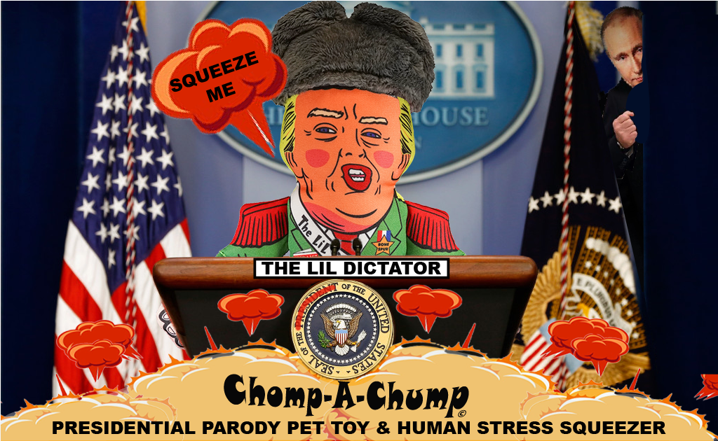 The Lil DicTator - Trump Parody Pet Chew Toy and Human Stress Relief Squeezer - Chomp A Chump: Donald Trump Presidential Parody Dog and Cat Toy