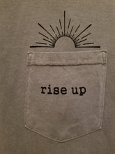 "Adult Grey ""Rise Up"" Pocket T-Shirt"