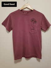 "Adult Berry ""Give"" Flower Pocket T-Shirt"