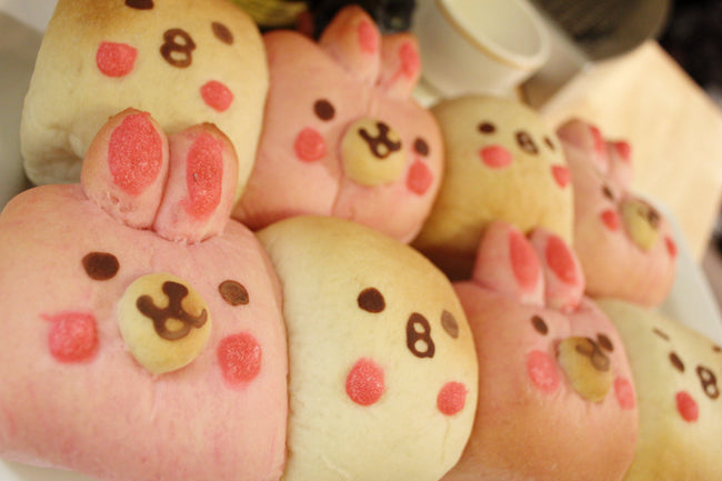 Mini Cream Filled Bread <small>(Rabbit & Chick shape: 6pcs)</small>/ <br><small><small>うさぎ&ひよこクリームちぎりパン</small></small>
