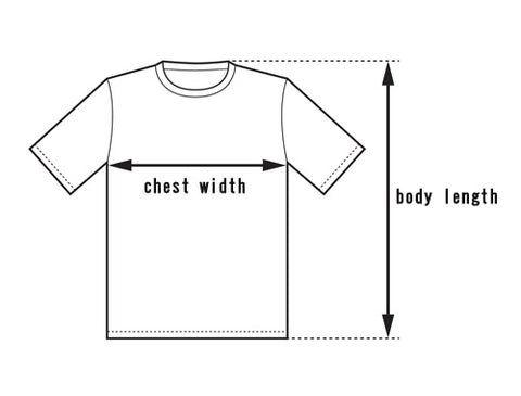 Size Guide - Measure the chest width and body length