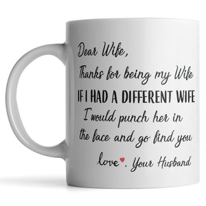 Dear Wife, Punch In The Face Mug - MonkeyPunch Store