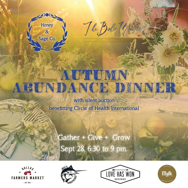 Autumn Abundance Dinner: September 28, 2017