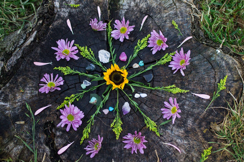 Self care retreat flower mandala