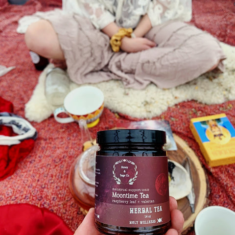 moon time, menstrual tea, menarche, red tent