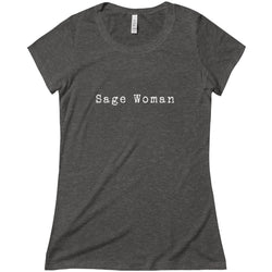 Sage Woman Triblend Short Sleeve Tee, T-Shirt - Honey & Sage
