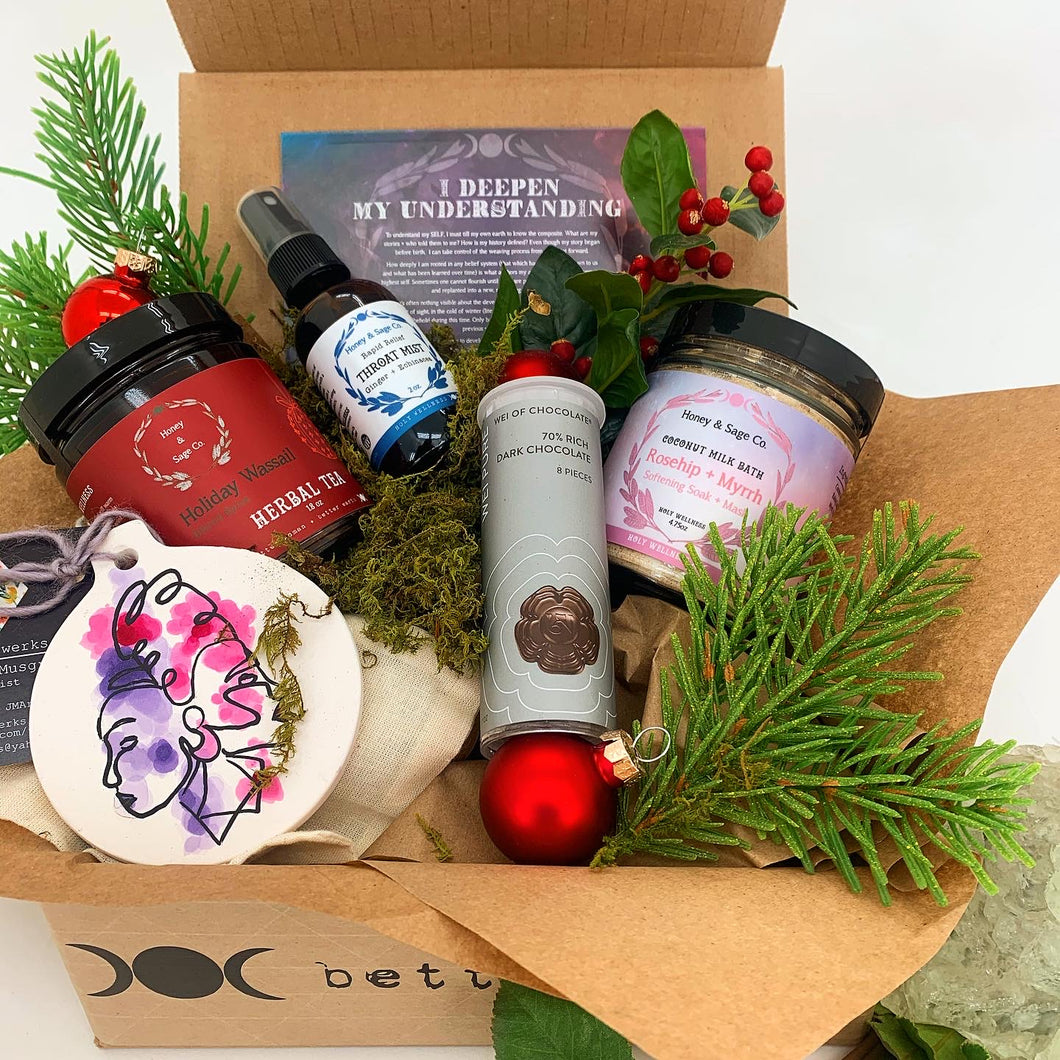 December Sage Woman Care Package,  - Honey & Sage