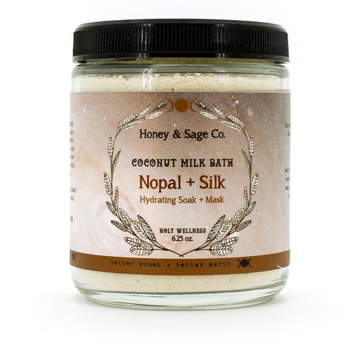 Coconut Milk Bath: Nopal + Silk, Coconut Milk Bath - Honey & Sage