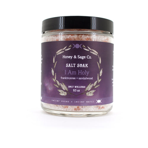 I Am Holy Salt Soak, Bath Salts - Honey & Sage