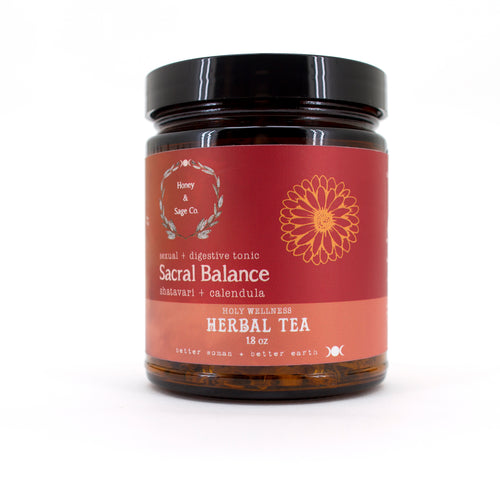 Herbal Tea: Sacral Balance Tea Sexual and Digestive Tonic, Tea - Honey & Sage