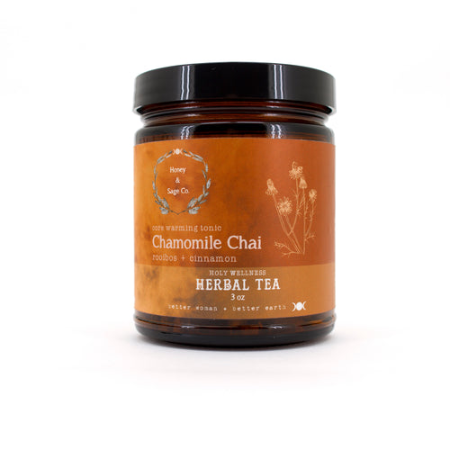 Herbal Tea: Chamomile Chai Core Warming Tonic, Tea - Honey & Sage