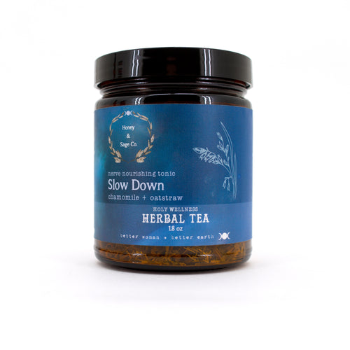 Herbal Tea: Slow Down Nerve Nourishing Tonic, Tea - Honey & Sage