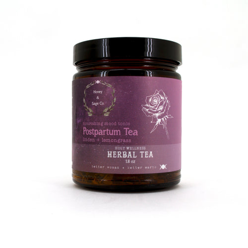 Herbal Tea: Postpartum Nourishing Mood Tonic, Tea - Honey & Sage
