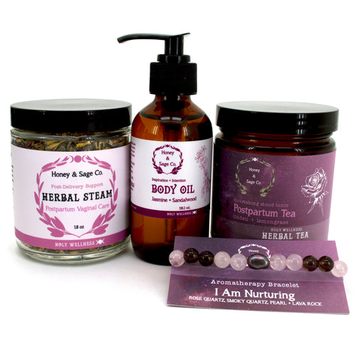 Honey Womban: Postpartum Care Package, Care Package - Honey & Sage