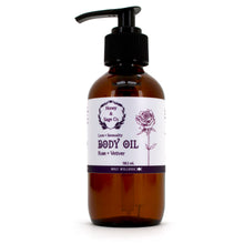 Load image into Gallery viewer, Body Oil: Rose + Vetiver, Body Oil - Honey & Sage