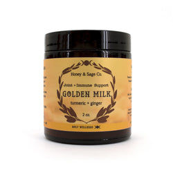 Golden Milk: Stress + Immune Support, Wellness - Honey & Sage