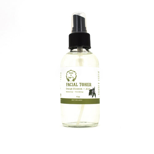 Facial Toner: Orange Blossom + Aloe, Facial Toner - Honey & Sage