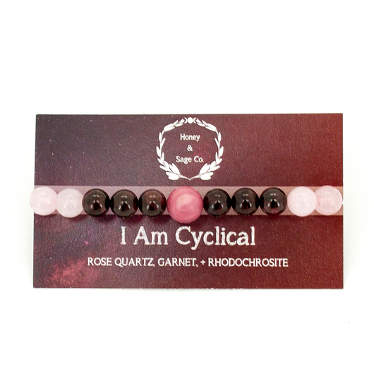 Mala Bracelet: I Am Cyclical, Mala - Honey & Sage