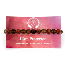 Load image into Gallery viewer, Mala Bracelet: I Am Protected, Mala - Honey & Sage