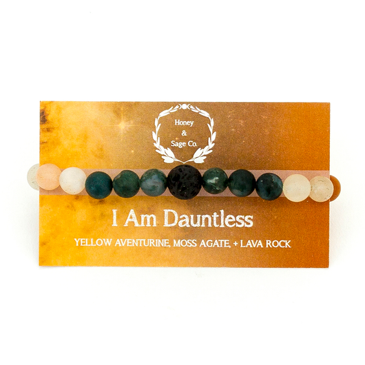Mala Bracelet: I Am Dauntless, Mala - Honey & Sage