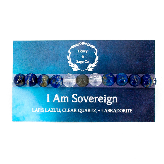 Mala Bracelet: I Am Sovereign, Mala - Honey & Sage