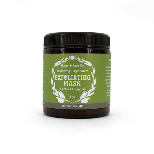 Exfoliating Mask: Cactus & Charcoal,  - Honey & Sage