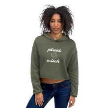 Load image into Gallery viewer, Plant Witch Cropped Hoodie, Clothing - Honey & Sage