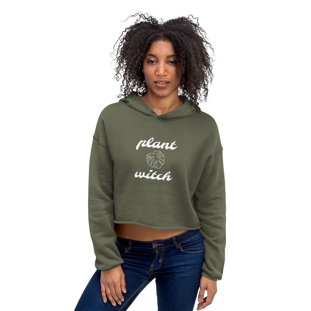 Plant Witch Cropped Hoodie, Clothing - Honey & Sage