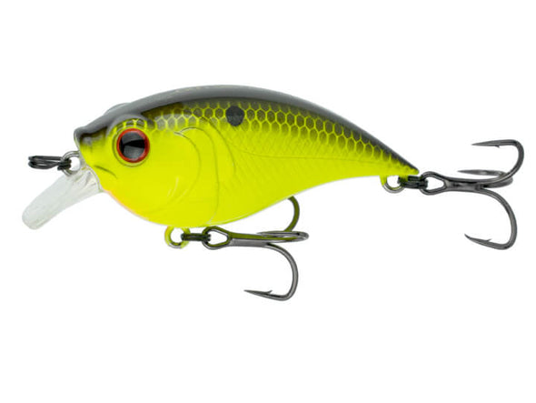 6th Sense Fishing Curve Finesse Squarebill Chartreuse Black Back