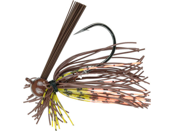 6th Sense Fishing Divine Ball Head Finesse Jig Brown N Orange Craw