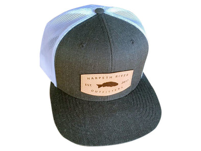 HRO Flat Bill Snapback Leather Patch Cap