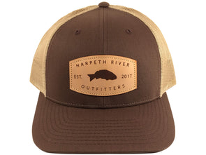 Harpeth River Outfitters Leather Patch Cap