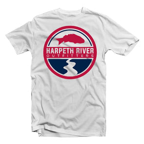 Harpeth River Logo T-Shirt - Red, White, and Blue