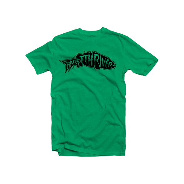 Harpeth River Smallmouth T-Shirt Heather Irish Green