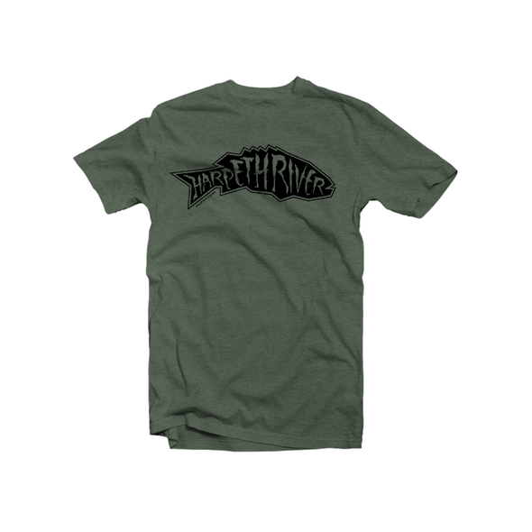 Harpeth River Smallmouth T-Shirt Heather Military Green