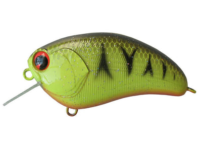 Ima Lures Square Bill Barred Black Back Chartreuse